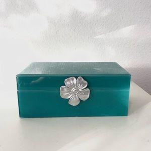 New Beautiful glass jewelry storage box